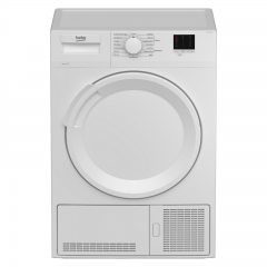 Beko DTLCE80041W 8kg Vented Tumble Dryer - White - B Energy Rated