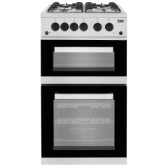 Beko KDG582S 50cm Twin Cavity Gas Cooker No Lid