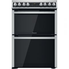 Hotpoint HDM67V8D2CX 60cm Electric Double Fan Oven Cooker