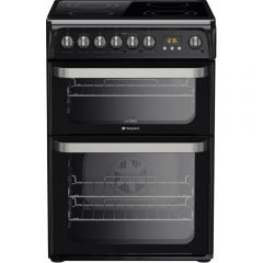 Hotpoint HUE61K 60cm Electric Double Oven Cooker