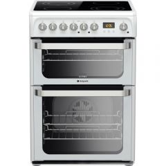 Hotpoint HUE61P 60cm Electric Double Oven Cooker