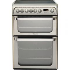Hotpoint HUE61X 60cm Electric Double Oven Cooker