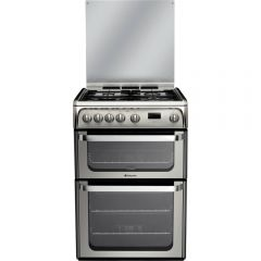 Hotpoint HUG61X 60cm Gas Double Oven Cooker